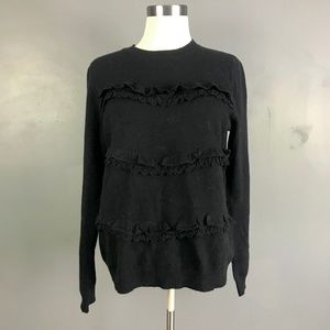 Sezane - Black M Knit Sweater Crew Neck Style